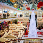 shopping mall during holiday season requiring extra commercial cleaning services for busy season